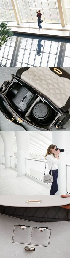 Finally, a camera bag that you aren't embarrassed to carry. The Claremont crossbody bag is the perfect accessory for style conscious photographers. Designed by Lo & Sons #loandsons