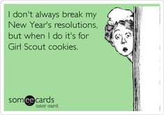 New Year Selling Girl Scout Cookies, Girl Scout Cookie Sales, Gym Humor, Workout Humor, Fitness Humor, Fitness Fun, Daisy Girl Scouts, Girl Scout Troop, Troop Beverly Hills