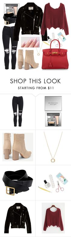 """shein sweaters"" by chooseonecool ❤ liked on Polyvore featuring AMIRI, Burberry, Charriol, Alexander McQueen, Acne Studios and Hermès"