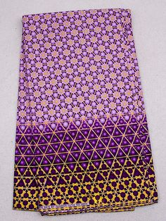 Purple and Gold African Fabric
