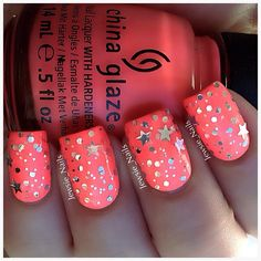 Totally into coral this spring/summer  Instagram photo by jewsie_nails