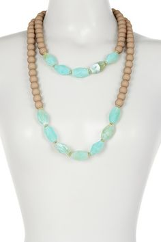 Image of Madison Parker Two Row Almond Bead Necklace