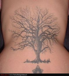 Tree Tattoo to go on my left shoulder blade. Maybe a little smaller though