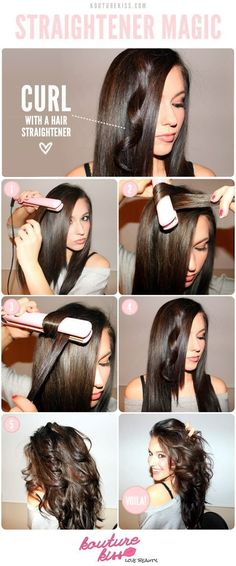 Amazing Tutorial: Curl With a Hair Straightener