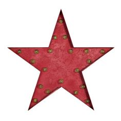 Marquee Light Star Red, $190, now featured on Fab.