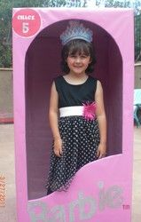 Photo opp. prop...create a barbie box out of a large box.