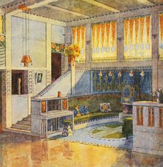 1920s House, Historian, Painting Inspiration, Art History, Architecture, Spaces, Arquitetura, Architecture Illustrations