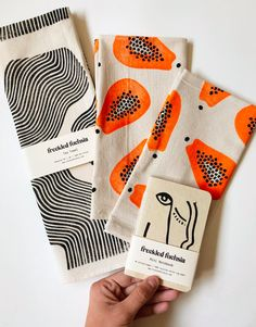 Your place to buy and sell all things handmade Fruit Tea Towel, Cotton Tea Towel, Kitchen Towel, Hand Printed Kitchen Towels, Papaya Tea Towel Purl Bee, Dish Towels, Tea Towels, Yoga Box, Rohit Bal, Fabric Stamping, Easy Sewing Projects, Craft Ideas
