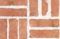 Stenciled brick on cinder block