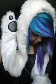 blue and purple. My two favorite colors...not too sure if I could pull it off tho :/
