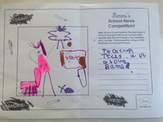 Sammi's School News Competition - Wilhelmina age from England, has created a 'Bats' theme for the headline of Sammi's Newspaper. Thanks for sharing! Newspaper Article, Thanks For Sharing, The Headlines, Toys For Girls, Bats, Competition, England, Writing, School