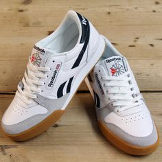 ba9be7483e627e Now in at 80sCC are these stunning Reebok Phase One Pro trainers in white  and black