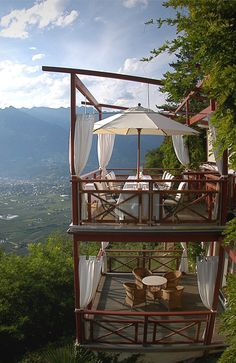 what a view! Castel Fragsburg, Merano, South Tyrol (Südtirol)