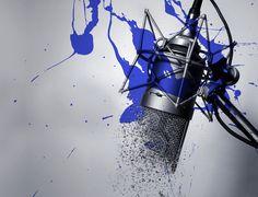 Studio Microphone Illustration