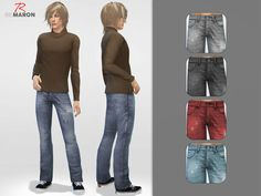 Denim pants for men by remaron at TSR • Sims 4 Updates