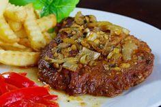 """Bravčové karé na """"šťavnato""""   Pečené-varené.sk Steak, Pork, Food And Drink, Beef, Cooking, Recipes, Red Peppers, Kale Stir Fry, Meat"""