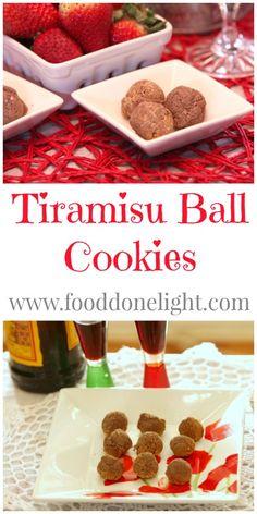 Bite Size Tiramisu, Awesome! Tiramisu Ball Cookies Low Calorie, Low Fat - Rein for later
