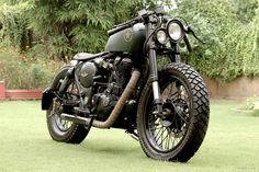 Royal Enfield 500cc Classic by Rajputana Customs ~ Featured on Moto Rivista