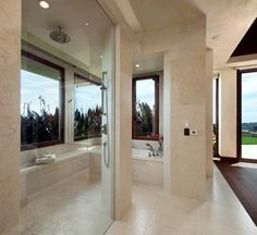 Home designed for indoor-outdoor living overlooks Pacific Ocean