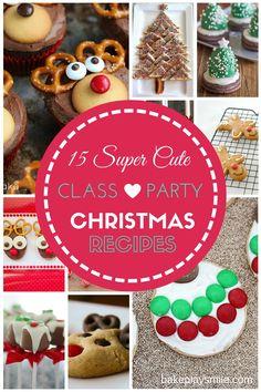 15 Super Cute Class Party Christmas Recipes!!! #christmas #kid #easy #recipes #cute