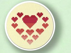 Look inside my Heart. Romantic Ombre Hearts Cross by andwabisabi