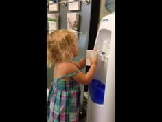 Little Girl Water cooler FAIL
