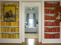 Books by the foot - allows you to order books by color. !!!!