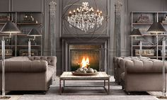 Steampunk Interior Design Inspiration Design 16 Spaces Featuring The Steampunk Interior Trend Industrial Fireplaces, Industrial Living, Modern Industrial, Industrial Furniture, Industrial Shelving, Living Room Decor, Living Spaces, Living Rooms, Living Area