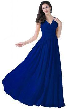ASA V-neck Bridesmaid Long Chiffon Evening Formal Dresses at Amazon Women's Clothing store: