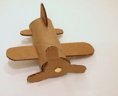 """Airplane Craft from toilet paper roll - great first day project to help decorate our """"travel"""" themed room"""
