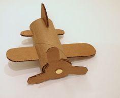 cardboard toilet roll airplane craft