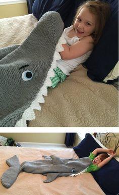 Baby Knitting Patterns Mermaid Knitting pattern for Shark Attack Blanket Shark Tail Blanket, Mermaid Tail Blanket, Lap Blanket, Loom Knitting, Baby Knitting Patterns, Crochet Patterns, Knitted Afghans, Knitted Blankets, Knitting Projects