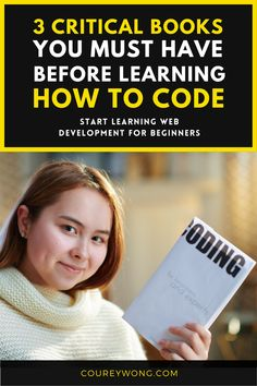 3 Books To Learn How To Code | Are you trying to learn how to code but don't know where to begin? I have been where you are and choosing a coding language can be the hardest thing in web development. I'll show you some of the best coding books for beginners so there's an easier transition into the world of coding. That's why I created this post as a resource for those learning how to code. I try to make coding easy to learn. Get started today. #codingforbeginners #codingbook #learncoding Learn Html, Learn To Code, How To Start A Blog, How To Make Money, How To Become, Learn Computer Science, Coding For Beginners, Simple Html, Learning Web