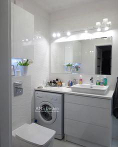 Byłam dzis obejrzeć realizacje pięknej łazienki na Białołęce  efekt przerósł moje oczekiwania  #lazienka #projektlazienki #bathroomdesign #bath #lazienka #projekt Laundry Room Organization, Laundry Room Design, Laundry In Bathroom, White Bathroom, Modern Bathroom, Small Bathroom, Bathroom Design Luxury, Bath Design, Tv Wall Design