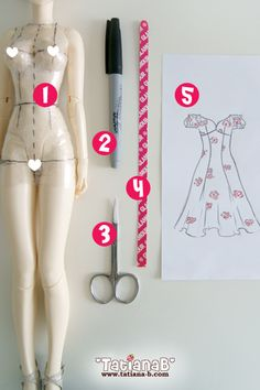 Fantastic tutorial for making patterns from body forms. It's made for dolls, but really it helps with regular pattern making, too. Blog - *TatianaB* pattern making tute