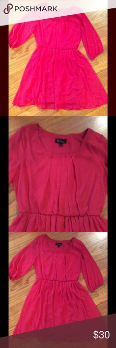 Great red dress! Macy's Great work dress. 3/4 sleeve Dresses