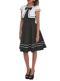 HOTTOPIC.COM - Black And White Bow Swing Dress