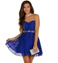 Amber-Royal Prom Dress at WindsorStore