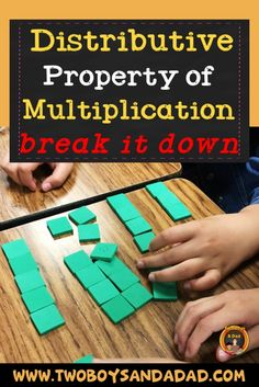 When your third grade students are learning the Distributive Property of Multiplication, do you break it down? Check out my two day lesson, anchor chart and activities I use to teach the Distributive Property of Multiplication. Math Properties, Properties Of Multiplication, Multiplication Activities, Math Activities, Math Games, Division Activities, Math Fractions, Distributive Property Of Multiplication, Math Lesson Plans