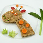 Giraffe sandwich for a healthy & fun lunch... from ZiggityZoom!