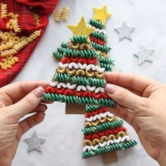 PASTA NOODLE CHRISTMAS TREE ORNAMENTS - Love how easy and fun these are to make! Kids will have fun painting and putting them together. It's a perfect Christmas craft for kids and adults too! #bestideasforkids #kidscrafts #kidsactivities #craftsforkids #christmas #christmascrafts #diy #crafts #preschool #toddler #kindergarten #ornaments #christmastree