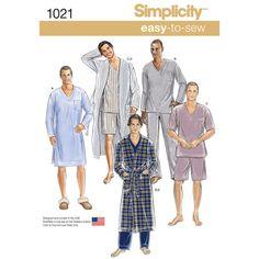 Simplicity Pattern 1021 Men's Classic Loungewear & Robe