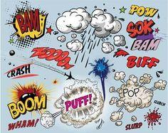 Comic Book Explosion Pop Art feature wallpaper from ohpopsi Birthday Photo Booths, Birthday Photos, Boy Birthday, Pop Art, Arte Pop, Poster Mural, Vinyl Backdrops, Free Comics, Illustration