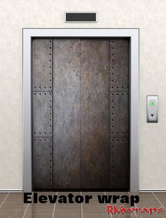 """Elevator door wrap metal with old rivets 72720428 Average one door elevator is 84"""" x 42"""" Contact Rm wraps Have a question or issue? Need help wrapping your product? Randy Miller 208-696-1180 Monday -"""