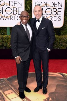 Good Evening, America!Matt Lauer and Al Roker are dressed to stun at the #GoldenGlobes tonight.