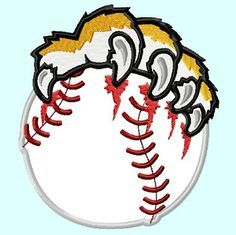 Tiger Paws Baseball Applique Embroidery Design  by LunaEmbroidery, $3.99