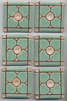 Handmade Decroative Ceramic Tiles Dogwood by HouseofWhisperingFir, Clay Tiles, Mosaic Tiles, Ceramics Tile, Ceramic Pottery, Ceramic Art, Ceramic Birds, Art Nouveau, Handmade Tiles, Handmade Ceramic