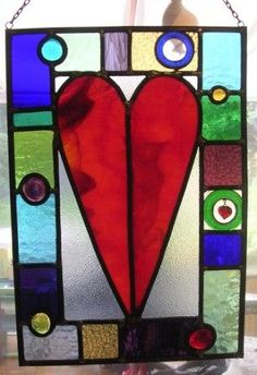 Heart stained glass