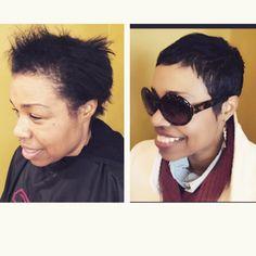 FEED   Websta Pixie Styles, Short Styles, Medium Hair Styles, Natural Hair Styles, Long Hair Styles, Very Short Pixie Cuts, Short Hair Cuts, Short Haircuts Black Hair, Pixie Haircuts
