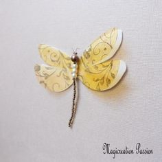 magnet libellule  8 cm double ailes soie blanche et transparent arabesques jaune + 1 aimant Arabesque, Magnet, Transparent, Decoration, Moth, Insects, Etsy, Unique Jewelry, Objects